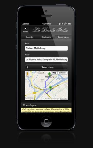 Piccola is ook te vinden op de smartphone